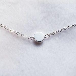 Jewelry - Minimalist Silver Dot Charm Necklace